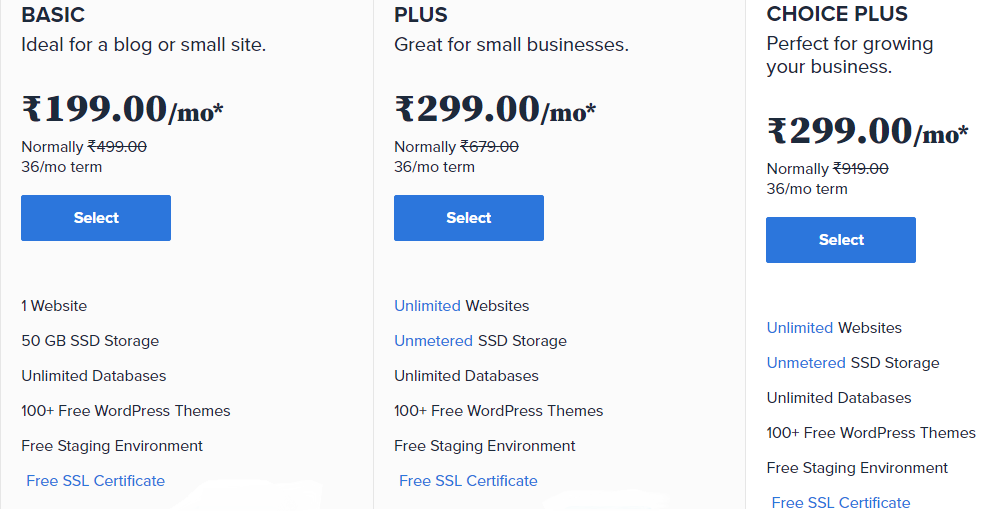Bluehost pricing India